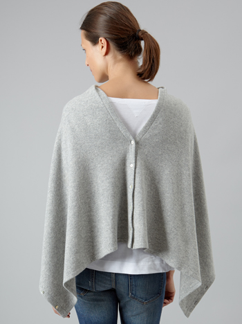 Back-buttoning cardigan