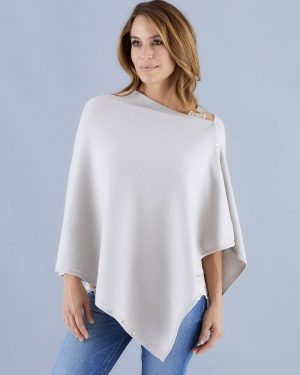 Stone Wool, Silk & Cashmere Poncho
